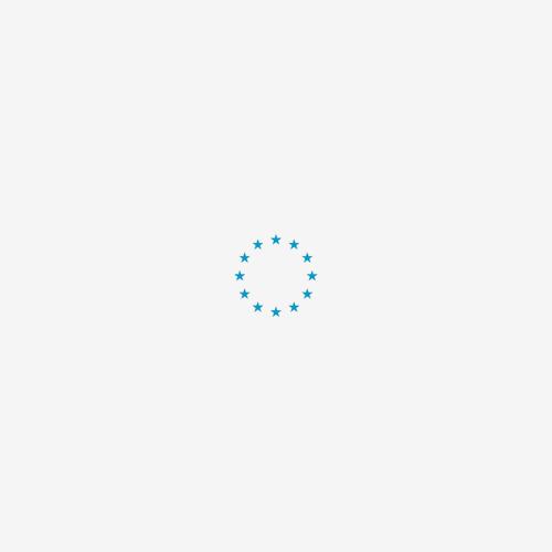 Vet Bed Effen Lichtblauw met Groene Rug 28mm 150x100cm